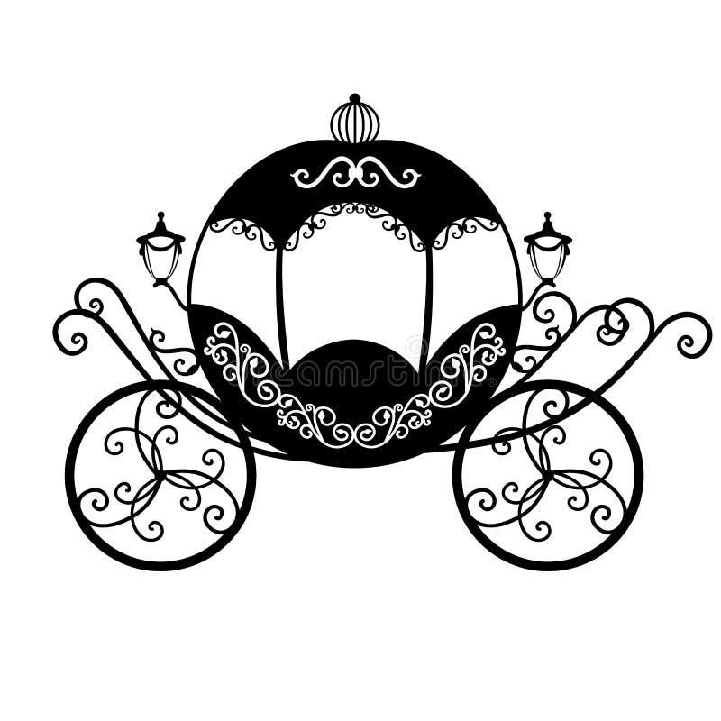 Декоративный brougham карета бесплатная иллюстрация