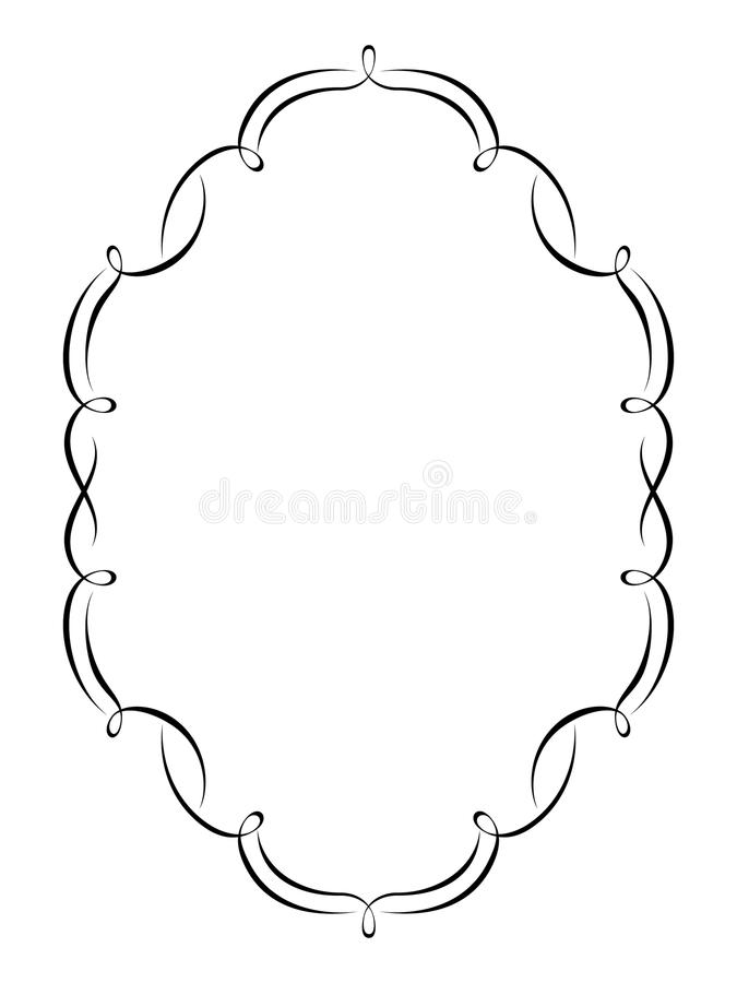 декоративный penmanship рамки иллюстрация вектора