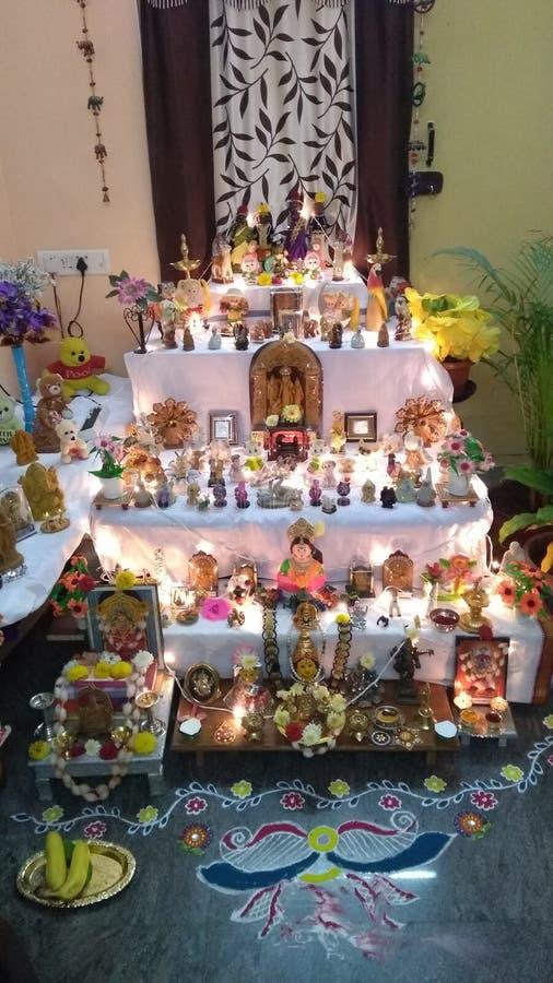 Декор Душеры в семье Каннады стоковые фотографии rf