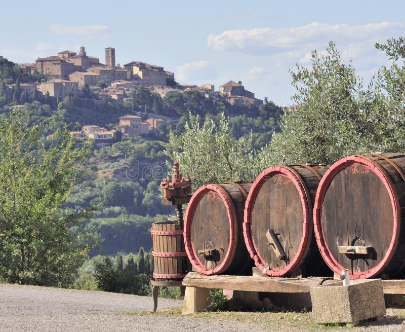 делать вино Тосканы стоковая фотография