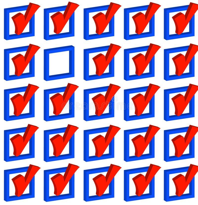 делать выборов иллюстрация вектора