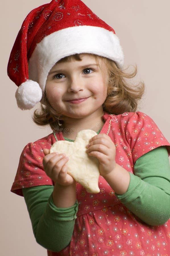 делать девушки печений рождества милый стоковые изображения rf