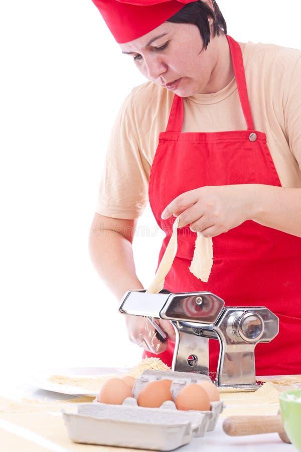 делать женщину макаронных изделия стоковое фото