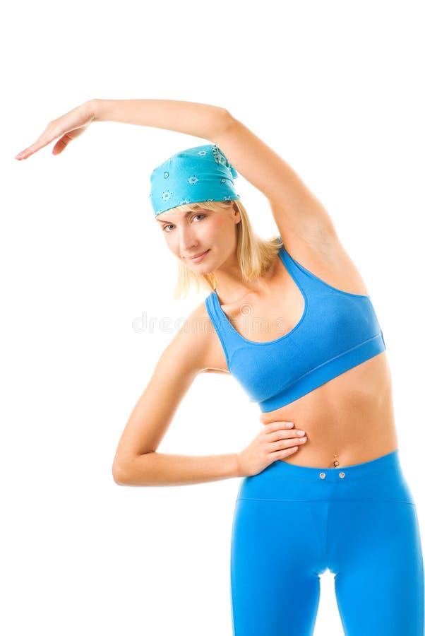 делать женщину пригодности тренировки стоковое изображение rf