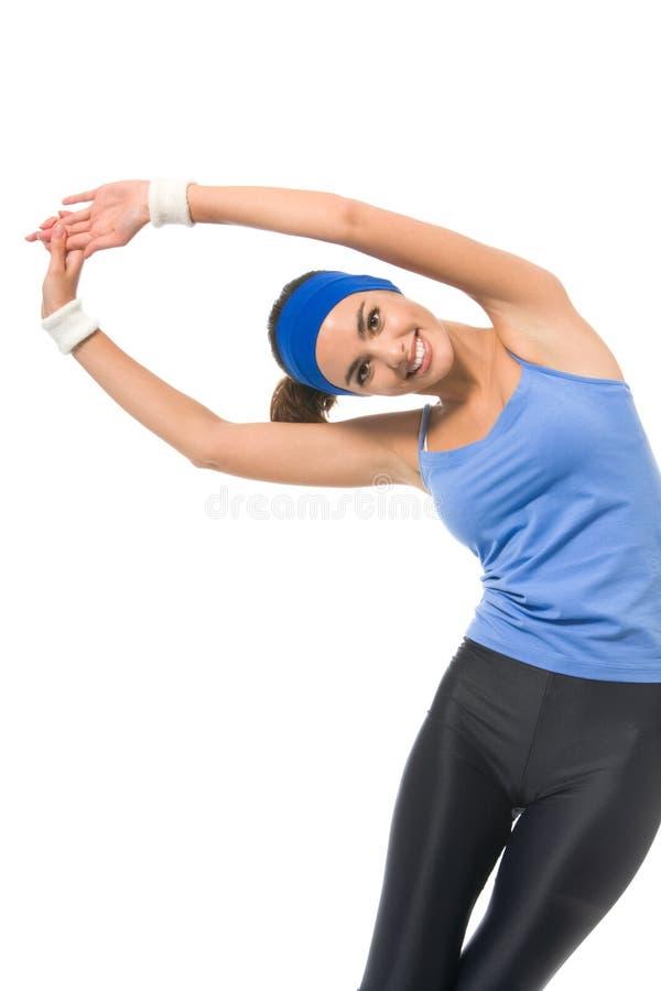 делать женщину пригодности тренировок стоковое фото rf