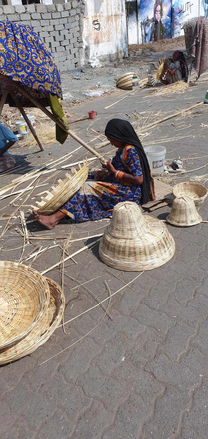 Делать корзины Мумбай стоковые фото