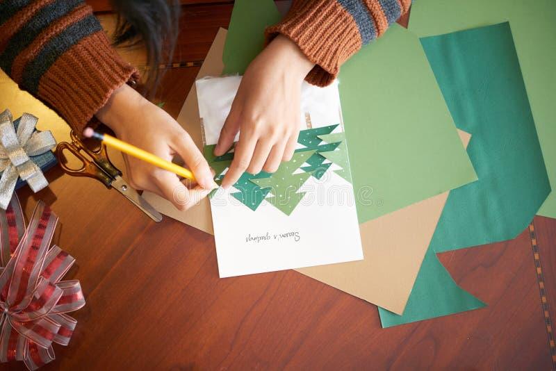 Делать поздравительную открытку праздника стоковая фотография rf