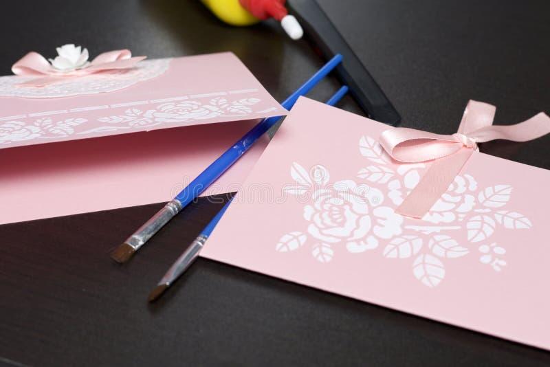 Новый год, открытки из картона и лент