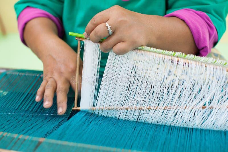 Делать тайский шелк стоковое фото rf