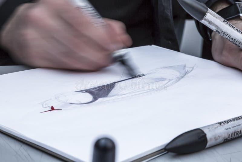 Делать эскиз к - деталь стоковые изображения