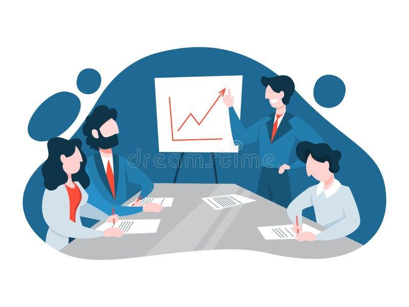 Деловая встреча в концепции конференц-зала бесплатная иллюстрация