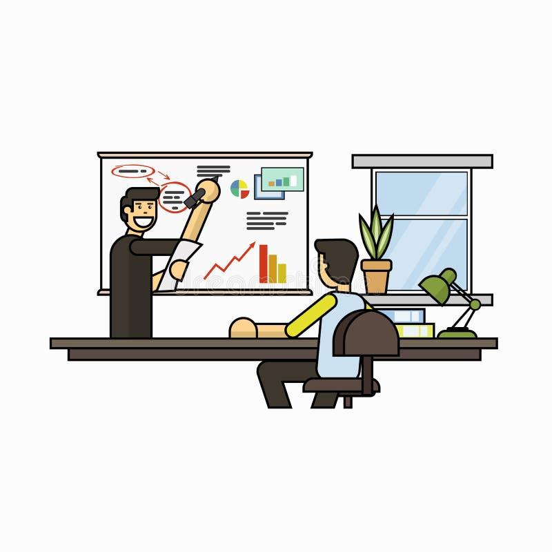Деловая встреча, иллюстрация вектора представления проекта бесплатная иллюстрация