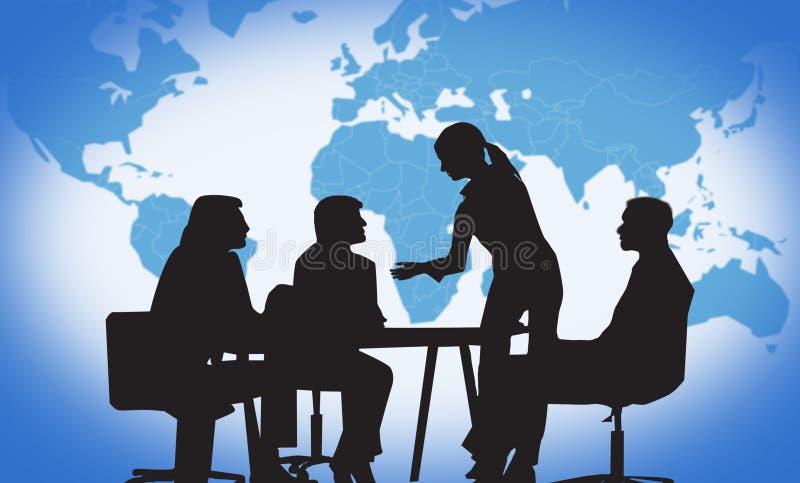 деловая встреча иллюстрация штока