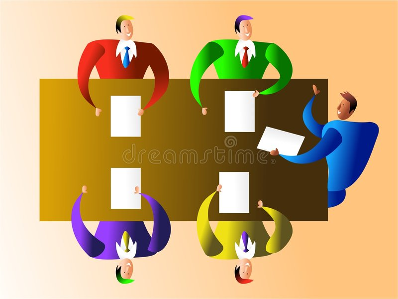 деловая встреча иллюстрация вектора