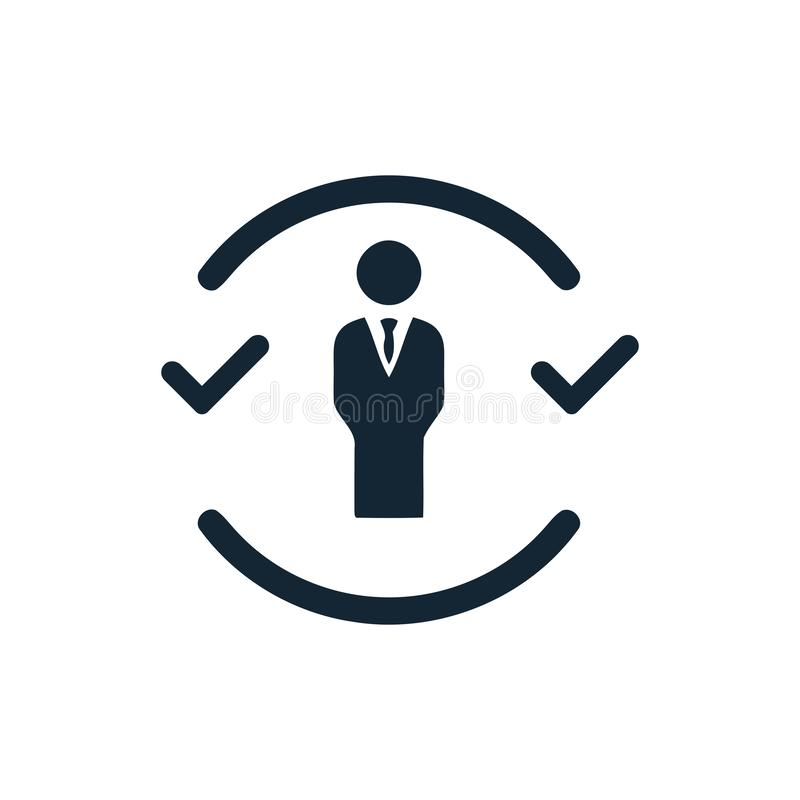 Деловое решение, бизнес-план, процесс принятия решений, управление, план, планирование, значок стратегии иллюстрация штока