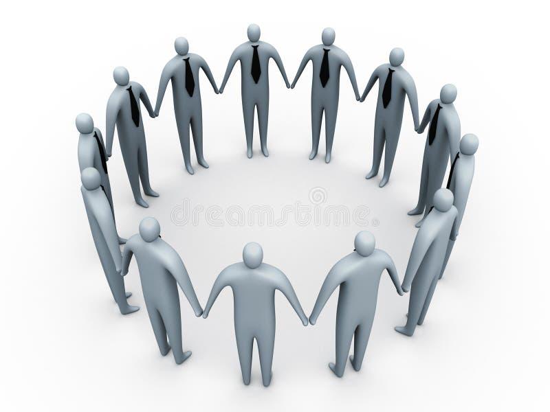 деловое сообщество иллюстрация вектора