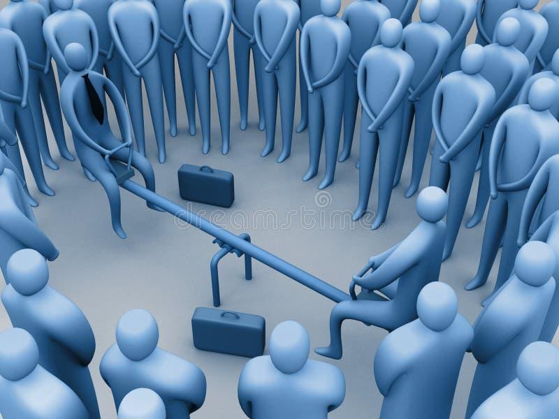 деловые переговоры нечетные иллюстрация вектора