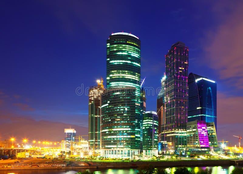деловый центр Moscow-города, Россия. стоковые фотографии rf