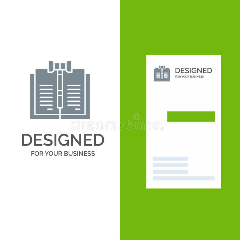 Дело, авторское право, цифров, закон, дизайн логотипа показателей серые и шаблон визитной карточки иллюстрация вектора
