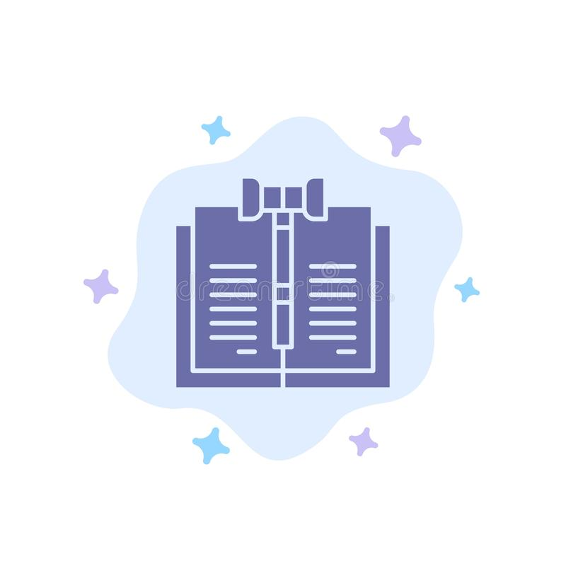 Дело, авторское право, цифров, закон, значок показателей голубой на абстрактной предпосылке облака иллюстрация вектора