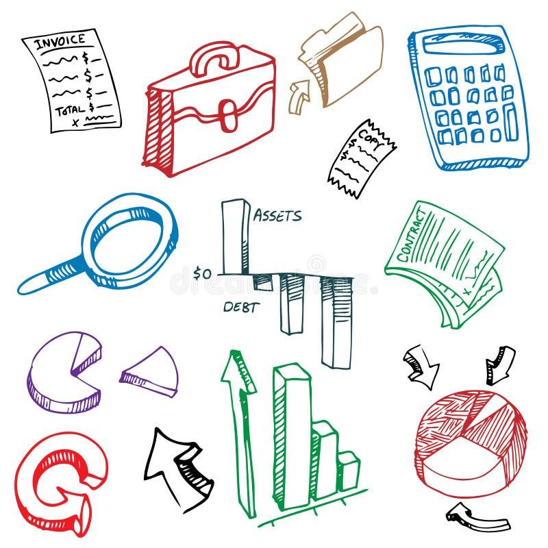 дело бухгалтерии рисуя финансовохозяйственный комплект иллюстрация вектора