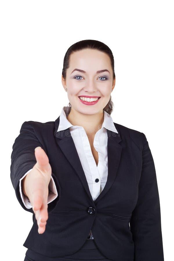 дело дает женщину рукопожатия стоковые изображения