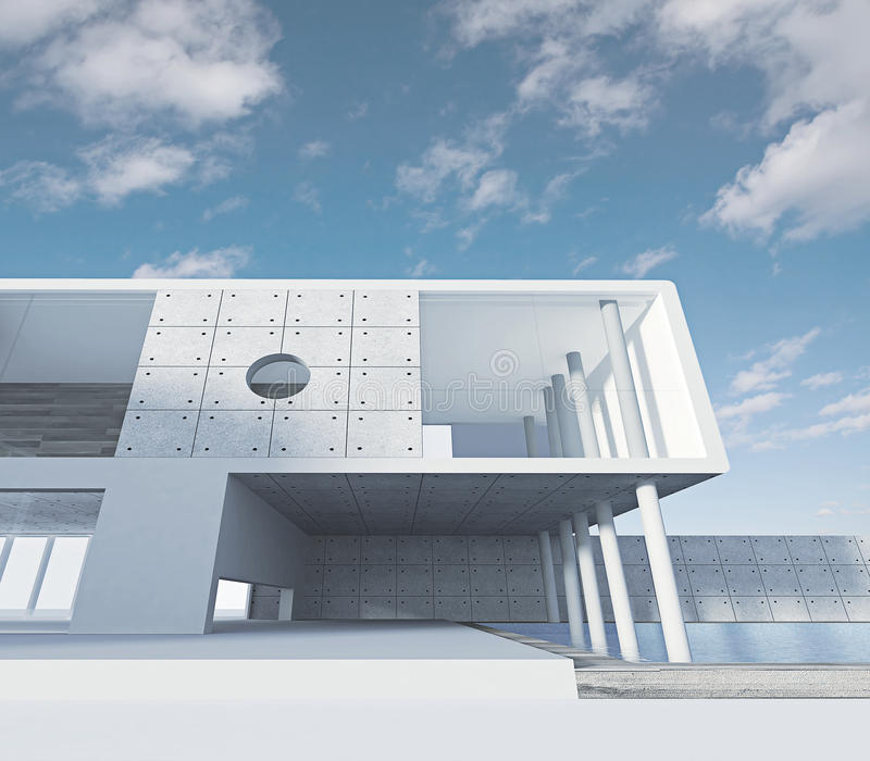 дело здания иллюстрация вектора