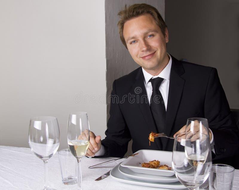 дело имея человека обеда стоковые фото