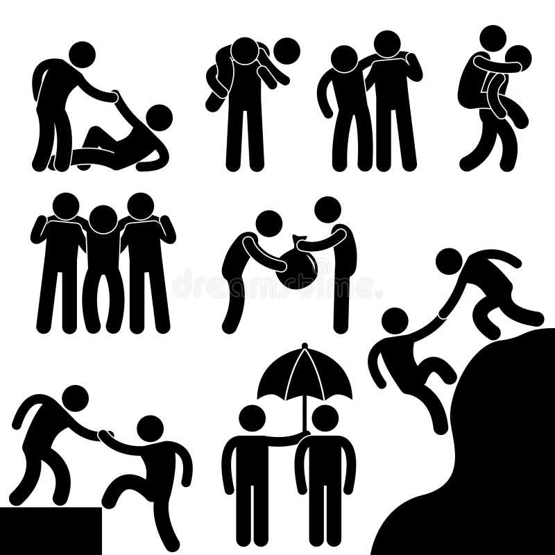 дело каждый друг помогая другому бесплатная иллюстрация