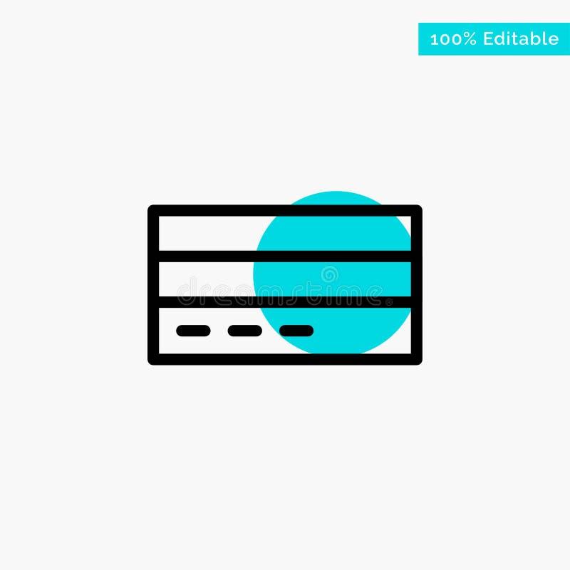 Дело, карта, кредит, финансы, интерфейс, значок вектора пункта круга самого интересного бирюзы потребителя бесплатная иллюстрация