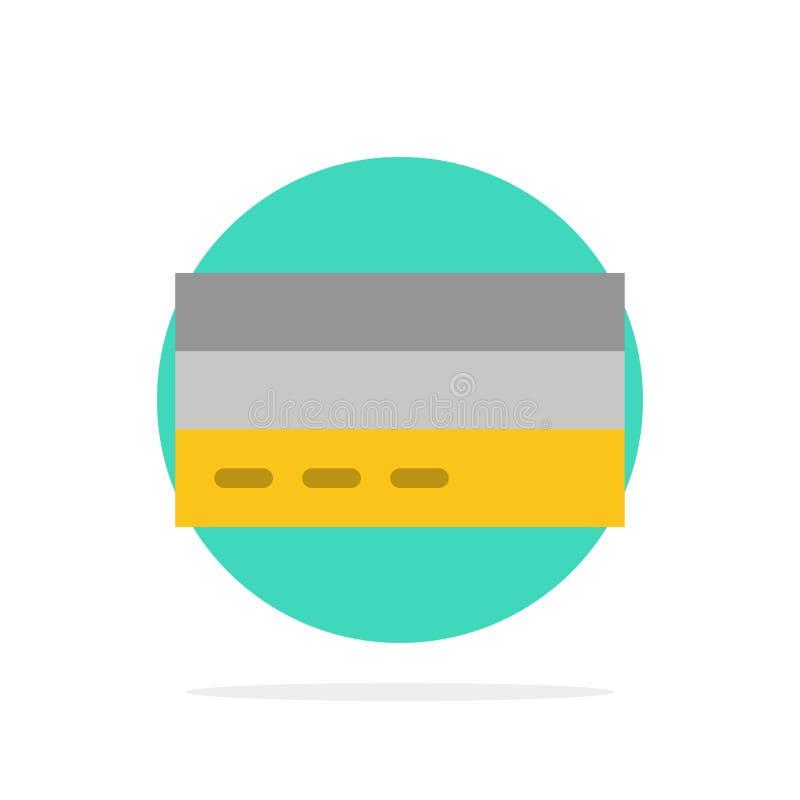 Дело, карта, кредит, финансы, интерфейс, значок цвета предпосылки круга конспекта потребителя плоский бесплатная иллюстрация