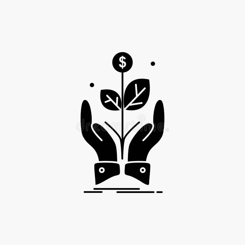 дело, компания, рост, завод, значок глифа подъема r бесплатная иллюстрация