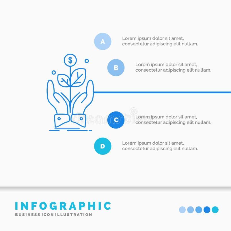 дело, компания, рост, завод, шаблон Infographics подъема для вебсайта и представление r иллюстрация вектора