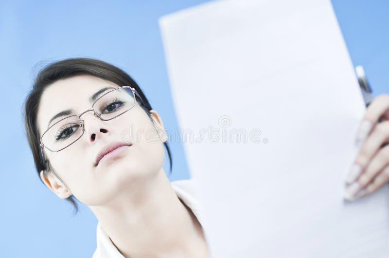 дело нарушило работу женщины стоковая фотография rf