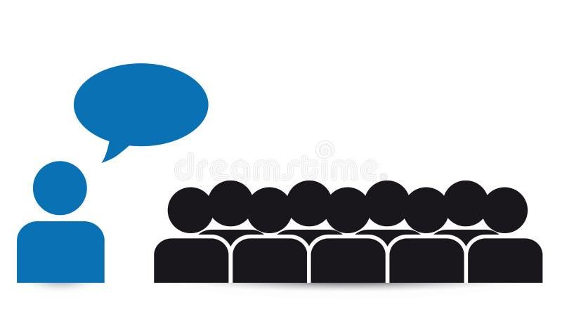 Дело объединяется в команду с пузырями речи - социальными средствами массовой информации бесплатная иллюстрация