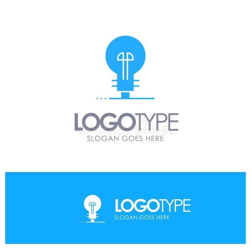 Дело, определяя, управление, логотип продукта голубой твердый с местом для слогана иллюстрация вектора