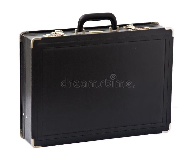 дело портфеля над белизной стоковое фото rf