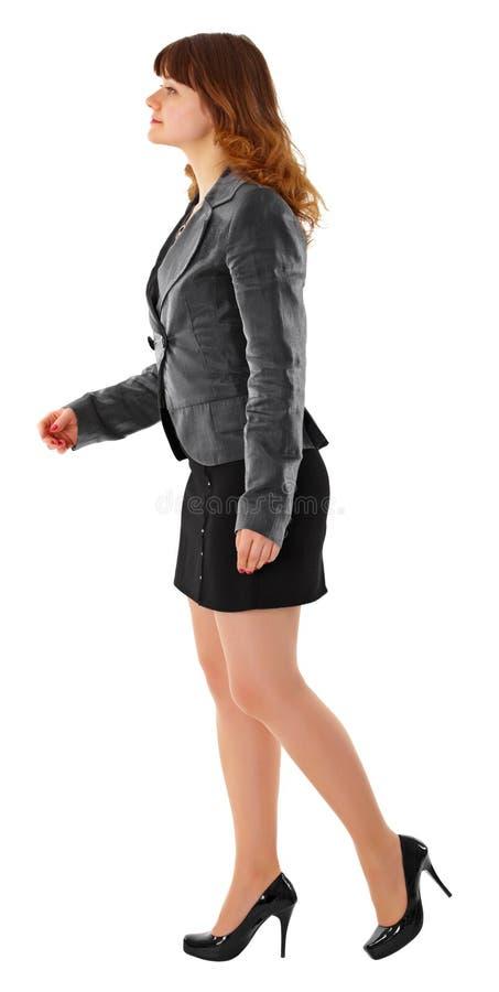 дело приходит белизна костюма девушки стоковая фотография rf