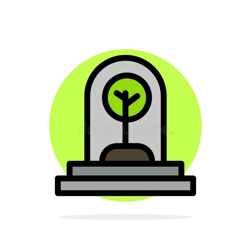 Дело, рост, новый, завод, значок цвета предпосылки круга конспекта дерева плоский иллюстрация штока