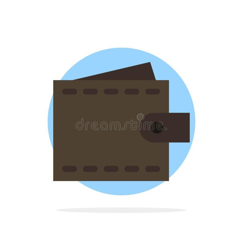Дело, финансы, интерфейс, потребитель, значок цвета предпосылки круга конспекта бумажника плоский бесплатная иллюстрация