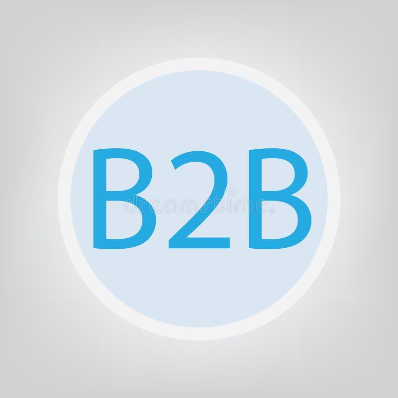 Дело B2B к концепции дела бесплатная иллюстрация