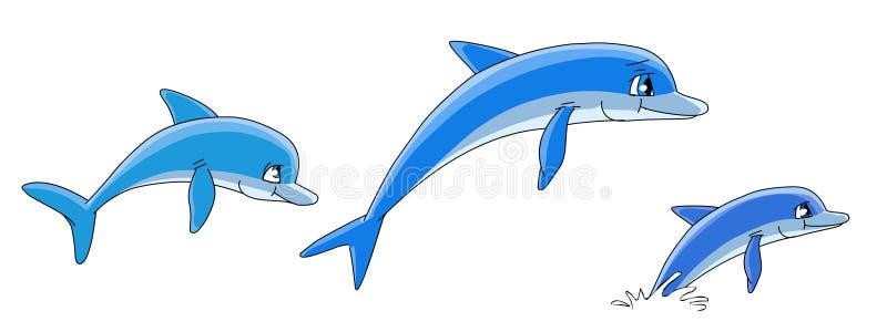 Download дельфины шаржа иллюстрация штока. иллюстрации насчитывающей swim - 6850012