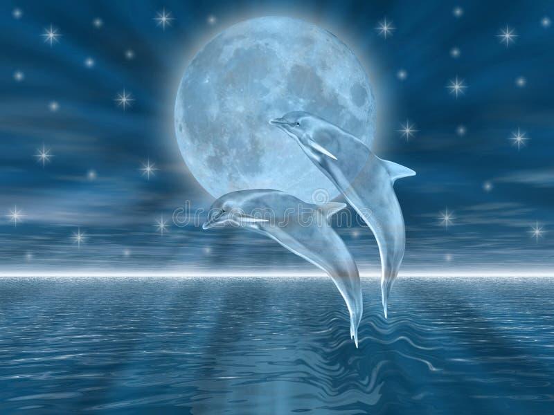 дельфины иллюстрация штока