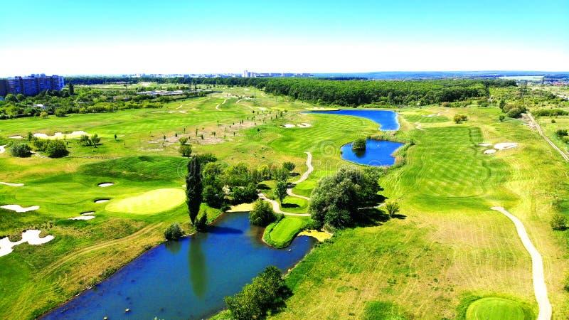 дел Ландшафт поля для гольфа стоковые изображения