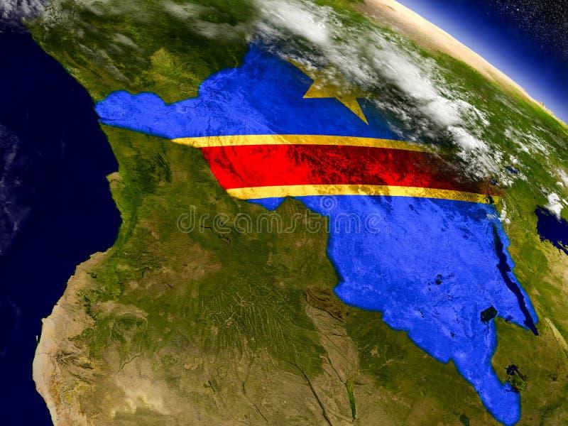 Download Демократичная Республика Конго с врезанным флагом на земле Иллюстрация штока - иллюстрации насчитывающей демократическо, вышесказанного: 81808092