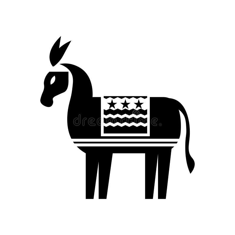 Демократичный знак и символ вектора значка изолированные на белой предпосылке, демократичной концепции логотипа бесплатная иллюстрация