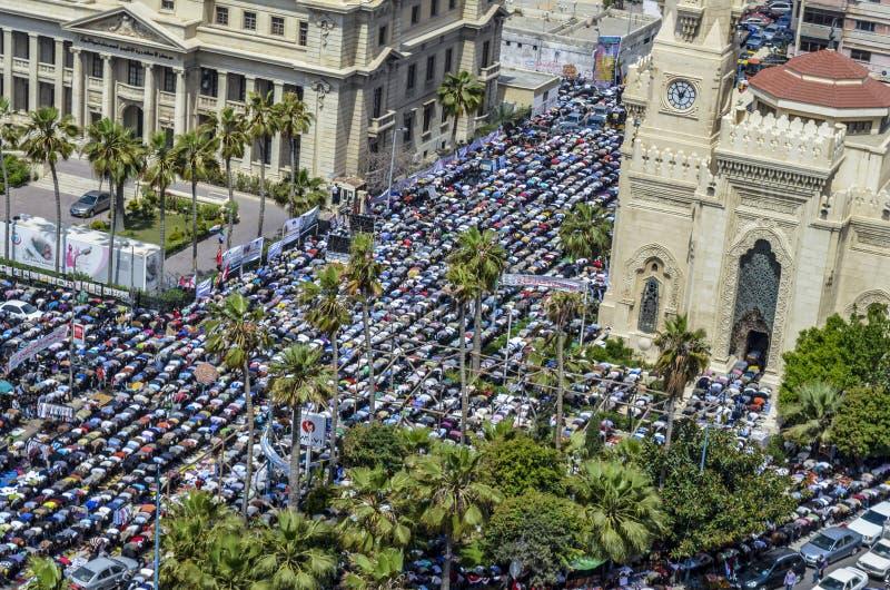 Демонстрации перед мечетью Ibrahim стоковая фотография