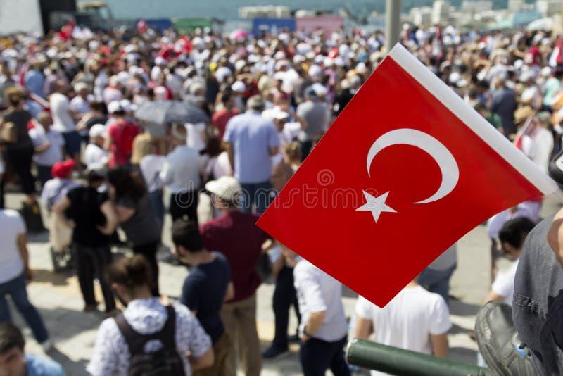 Демонстрации ` s Турции массовые стоковые фотографии rf