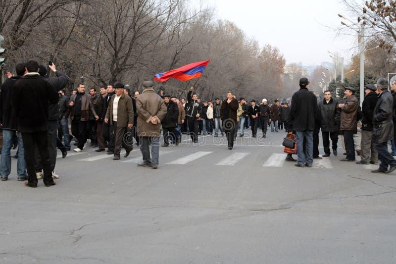 демонстрация Армении стоковая фотография