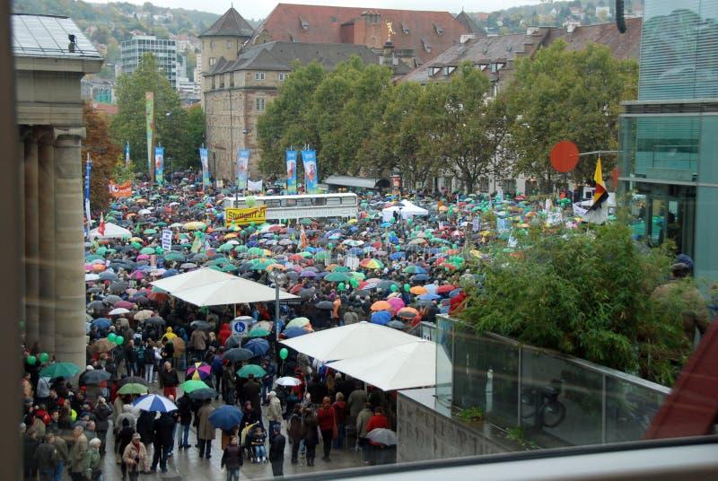 Демонстрация в дожде стоковые изображения